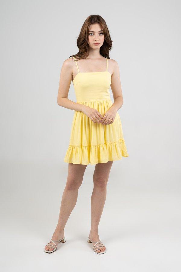 Poppy Dress in Yellow