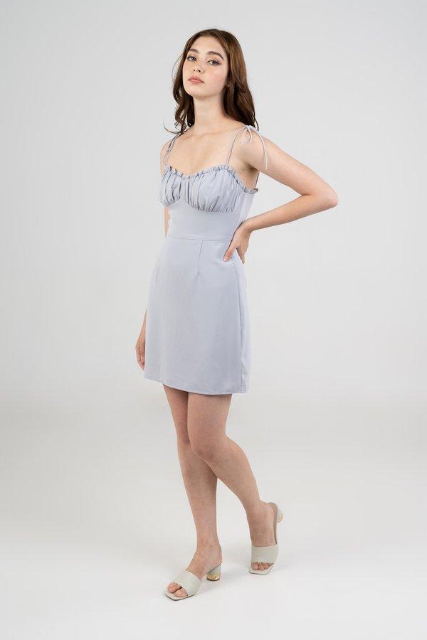 Gianna Dress in Dusty Blue