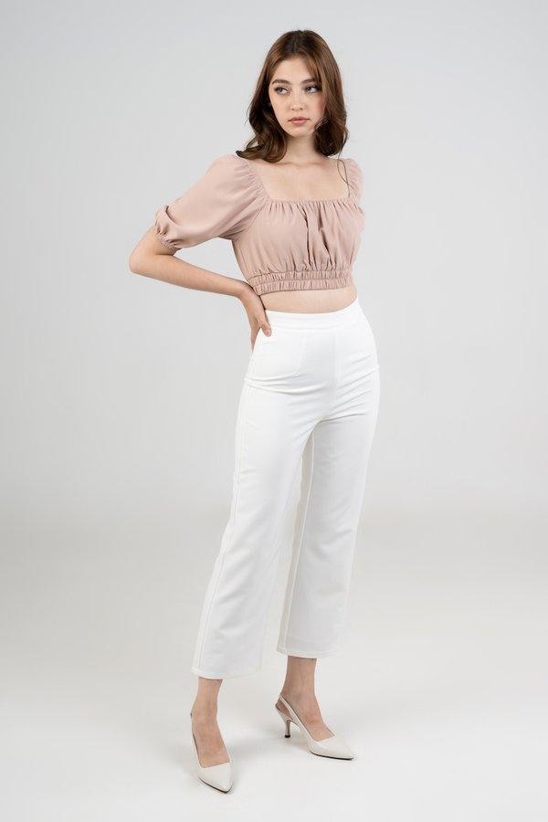 Eliza Pants in White