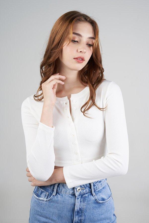 Amber II Cardigan in White