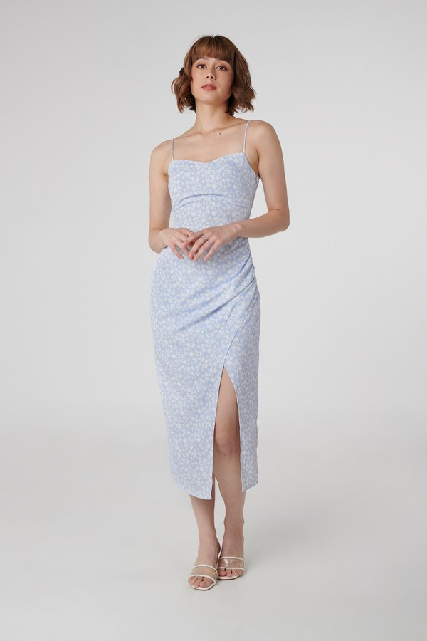 Esme Dress in Blue Floral