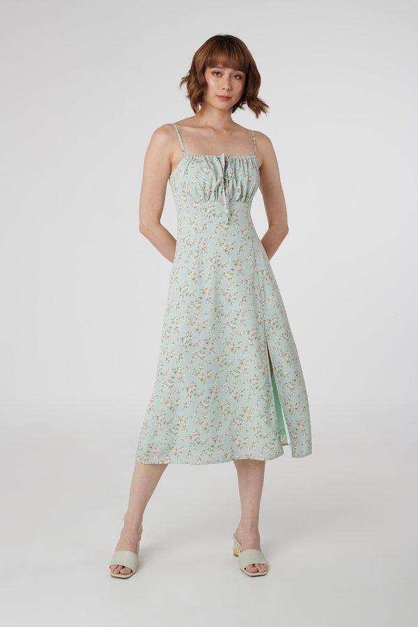 Charlotte Dress in Sage Floral