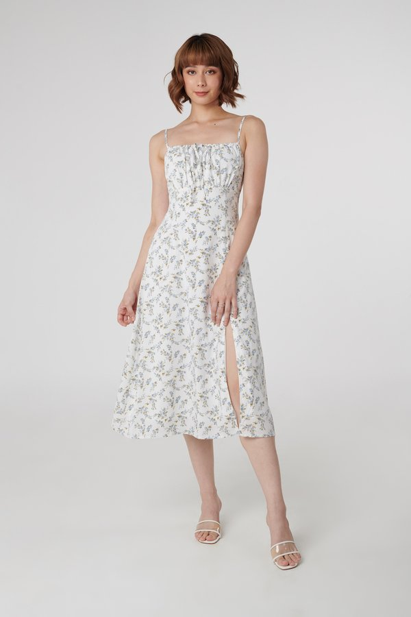 Charlotte Dress in White Floral