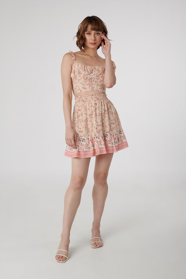Ellery Skirt in Pink Floral