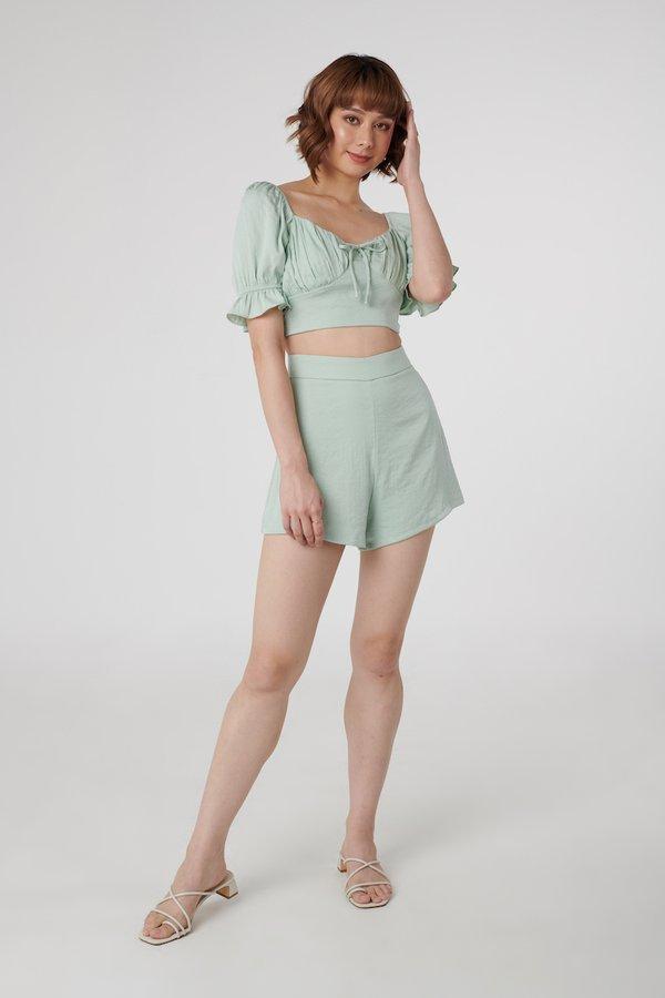 Astrid Top + Aspen Shorts Set in Mint